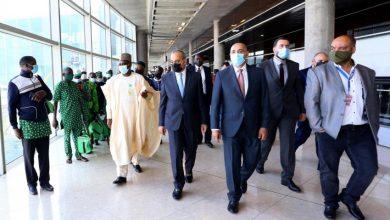 صورة وصول طائرة تقل 267 سائحا نيجيريا في رحلة سياحة دينية إلى الأردن