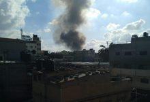 صورة انفجار ضخم بسوق شعبي في غزة